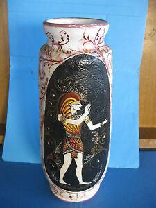 Raro antico vaso decorato guerriero greco sparta 39 m for Vaso greco antico