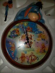 Bradford Exchange Disney Eeyore Winnie the Pooh Wall Clock  Works Great with COA