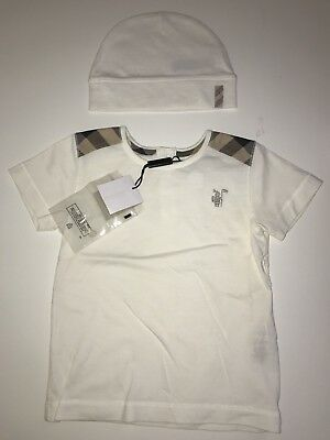 Burberry Check Pocket Cotton Baby Top with Hat Size 18 month
