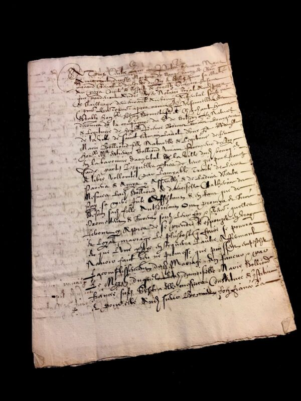 MARRIAGE CONTRACT 1596   12 pages