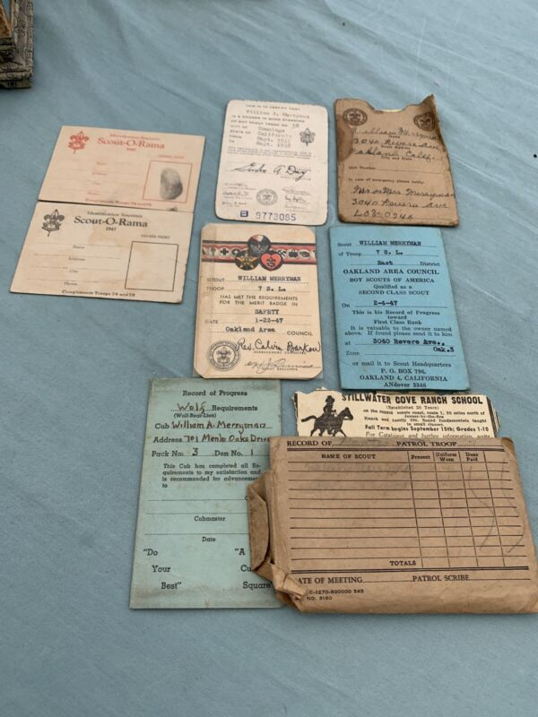 Vintage 1940s - Lot of Boy Scouts of America Registration Club Cards