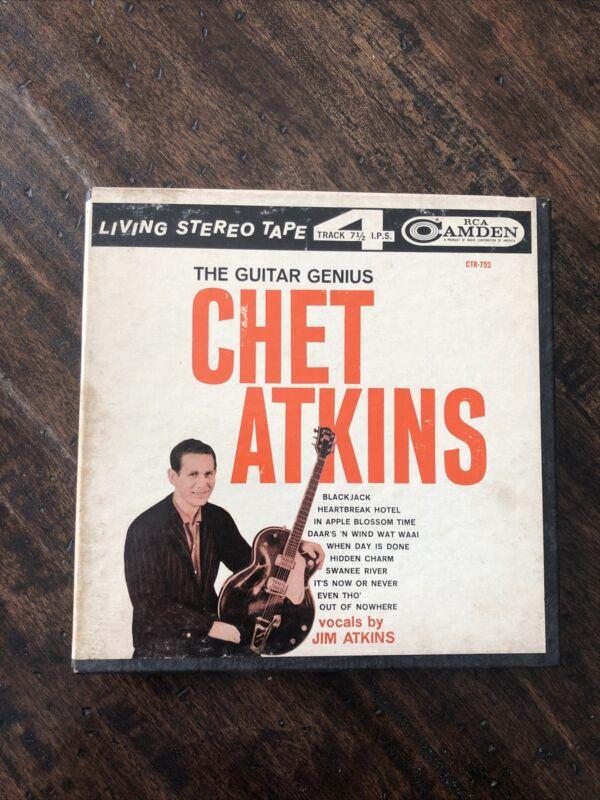 "Rare CHET ATKINS "" Guitar Genius "" RCA  7 1/2 IPS 4Track Reel To Reel tape"