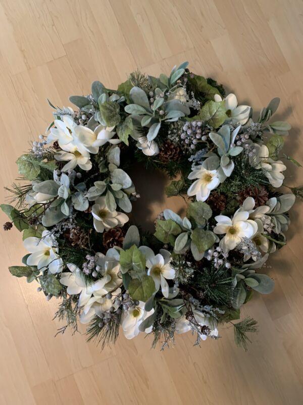 Frontgate Christmas Magnolia Wreath—BEAUTIFUL!!!