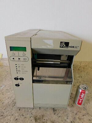 Zebra 105sl Industrialcommercial Thermal Barcode Label Printer