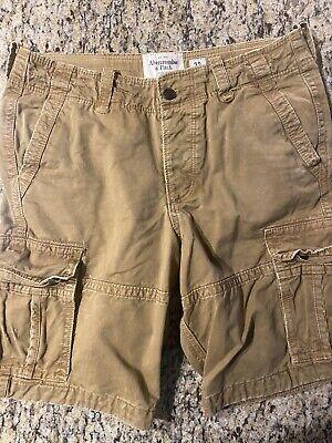 Men's Abercrombie and Fitch Khaki Cargo Shorts - Size 32 Waist