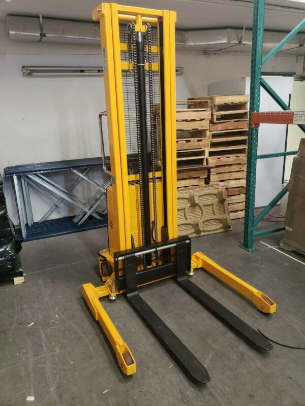 Slightly Used! Manual push / Electric Pallet Stacker (U-Line grade)