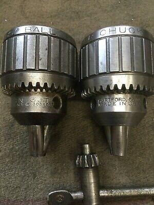 Jacobs 14n Ball Bearing Super Drill Chucks 3 Key 0-12 Capacity Made In Usa
