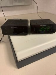 EMERSON SMARTSET ALARM CLOCK RADIO, MATCHED SET OF TWO!