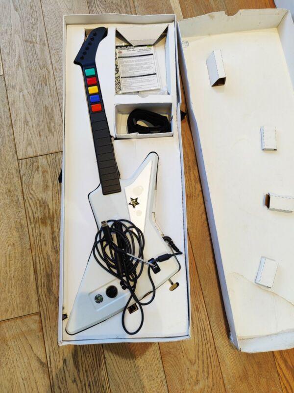 GUITAR HERO X-Plorer Controller Guitar Xbox 360 White Gibson USB & Manual Immacu