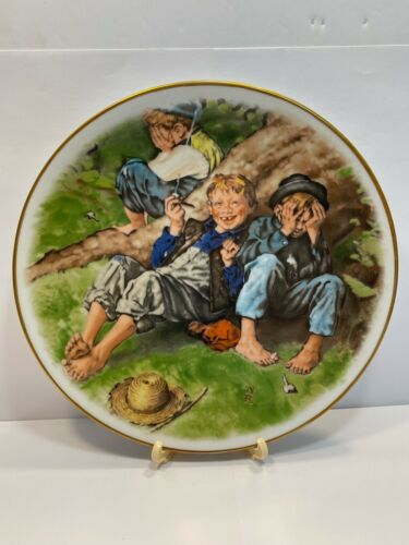 """Vintage 1977 Norman Rockwell Adventures of Tom Sawyer Series """"First-Smoke"""" Boxed"""