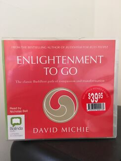 "Buddhism audiobook (CD): ""Enlightenment to go"" by David Mitchie."