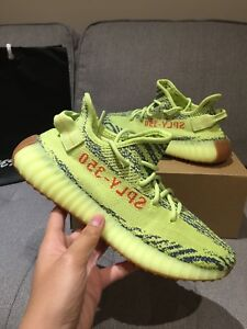 SUPER RARE YEEZY BOOST 350 YELLOW SIZE 8.5! IN HAND! RECEIPT!