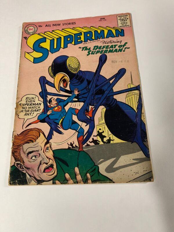Superman 110 2.0 Good Gd Dc Silver Age