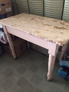 Old solid wood table