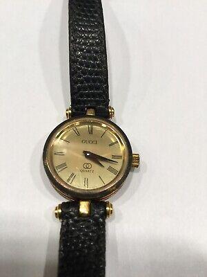 Authentic Gucci Vintage Old Gucci Wrist Watch Ladies Women Quartz Gold