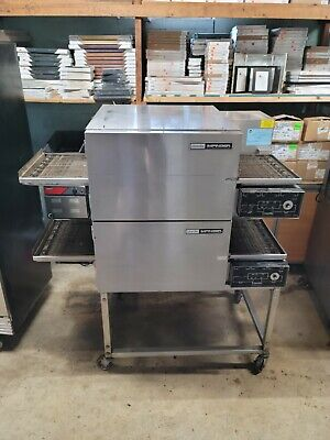 Lincoln 1162 Double Deck Conveyor Pizza Oven Electric. With Hood