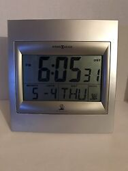 Howard Miller Radio Controlled Clock 625-236 LCD Table shelf 2003 Pre Owned