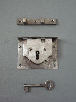 House Closet Mail Box Quarter Turn Cross Keyway Metal Lock w 2 Keys