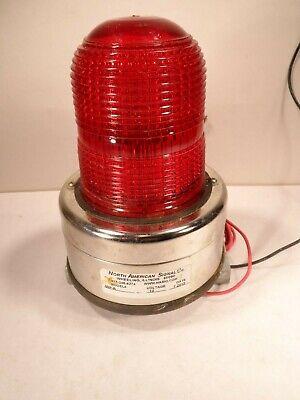 North American Signal Light 12 Volt Red Strobe Light Mip-r