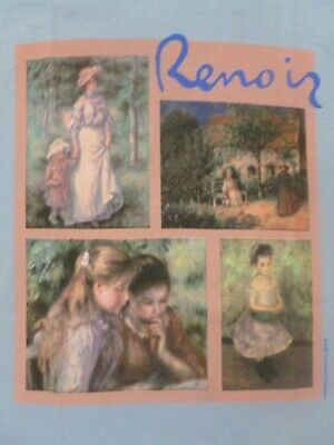 Vintage NEW T-shirt. Renoir Collage. Fine Art. MET MoMA Museum Store S Small