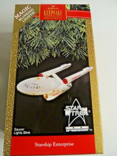 Hallmark Keepsake Ornament STAR TREK STARSHIP ENTERPRISE Star dated 1991