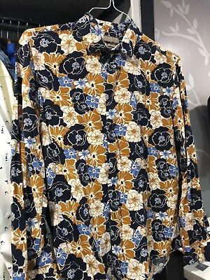 ZARA Mens Floral Shirt XL for sale  Fort Worth