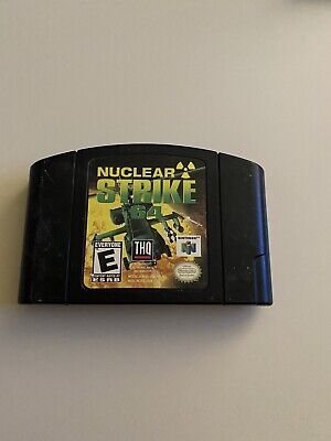 Nuclear Strike 64 (Nintendo 64, 1999) Fully Tested & Authentic! FREE SHIP