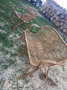 Wicker Loveseat and Chair