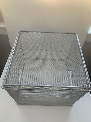 Wire Mesh Silver Hanging File Folder Holder 13x13x10.5