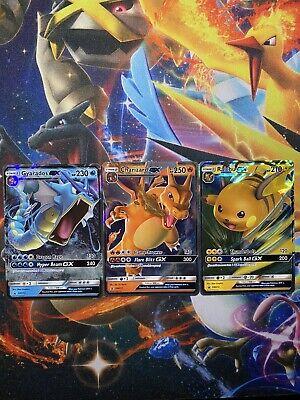 Charizard Gyarados Raichu GX Pokemon - Hidden Fates - Tin Promo Cards MINT