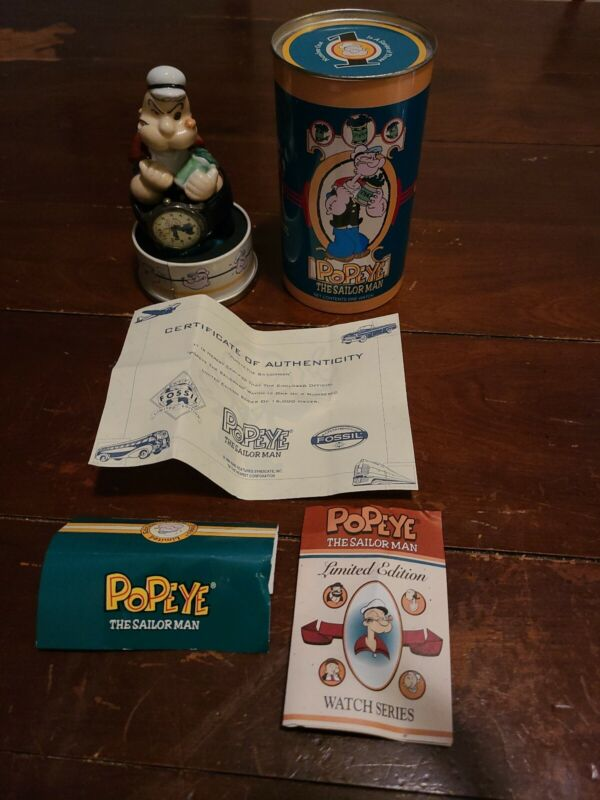 Popeye The Sailor Man Limited Edition Fossil Watch 1994 #6161 of 15000 1 of 3