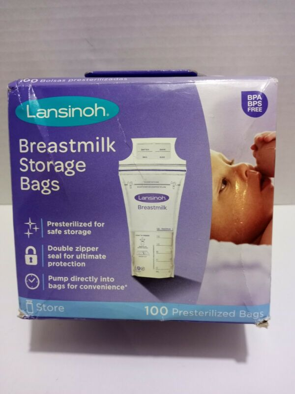 New Sealed Lansinoh Breastmilk Storage Bags 100 Count
