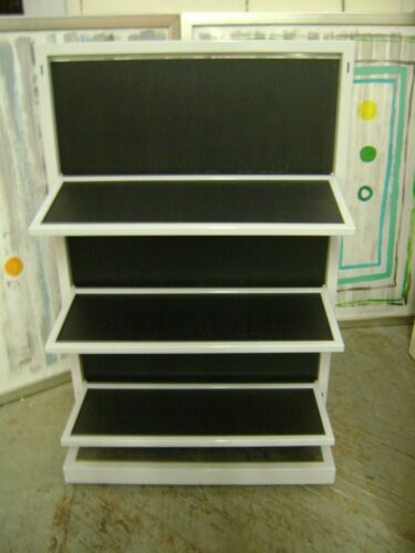 RETAIL 6 SHELF FOLDING SHELVING UNIT  DISPLAY MERCHANDISER STORE FIXTURE