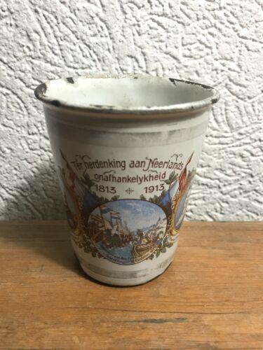 Very rare 1913 enamelware graniteware COMMEMORATIVE cup/tumbler