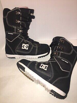 Men's DC 2012 Park Series Boot Snowboard Snow Boots Black White Size 8.5 Dc Park Snowboard Boots