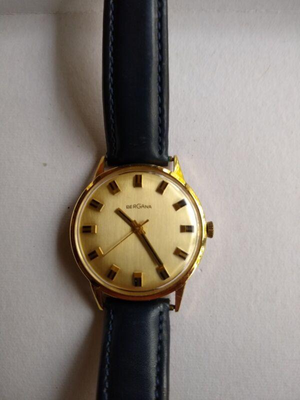 Bergana 585  Gold Uhr für  Damen  und Herren mit  Breitling Armband aus Nachlass