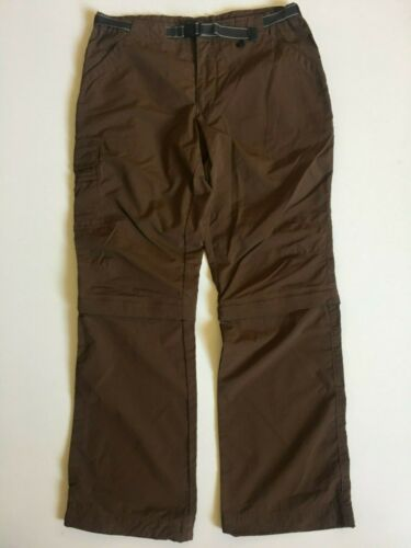 "REI Womens sz 8 (30-32"") Brown UPF 30+ Outdoor hiking Convertible Pants Nylon"