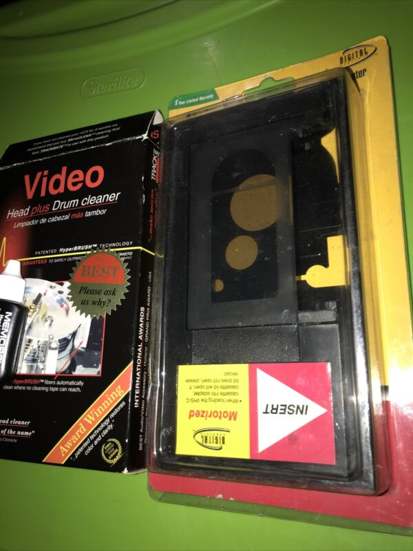 Digital Concepts VHS-C Cassette Adapter motorized VC-16+head drum cleaner VCR