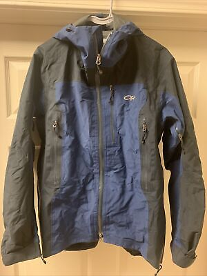 Outdoor Research Men's Small Goretex Shell Hooded Jacket Excellent!