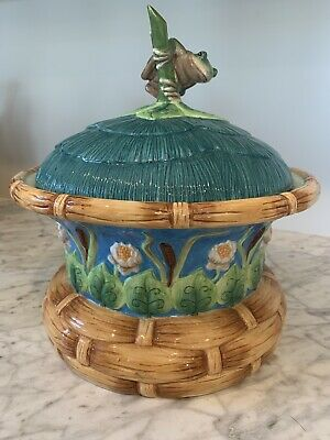 RARE** House of Hatten Peggy Fairfax Herrick Tureen - Cookie Jar Frog Lily Pad