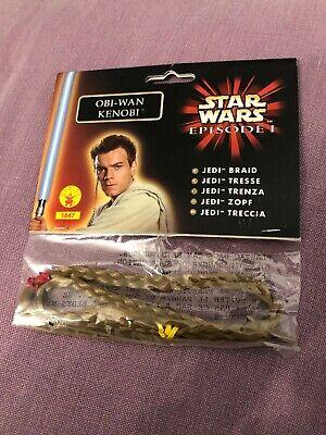 Star Wars Episode I Obi-Wan Kenobi Jedi Braid Rubie's Costume NEW cosplay ADULT