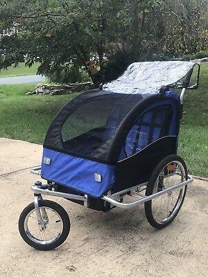 Jogging Stroller/Bike Trailer Double Seat