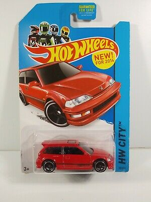 Hot Wheels 1990 Honda Civic EF Red HW CITY
