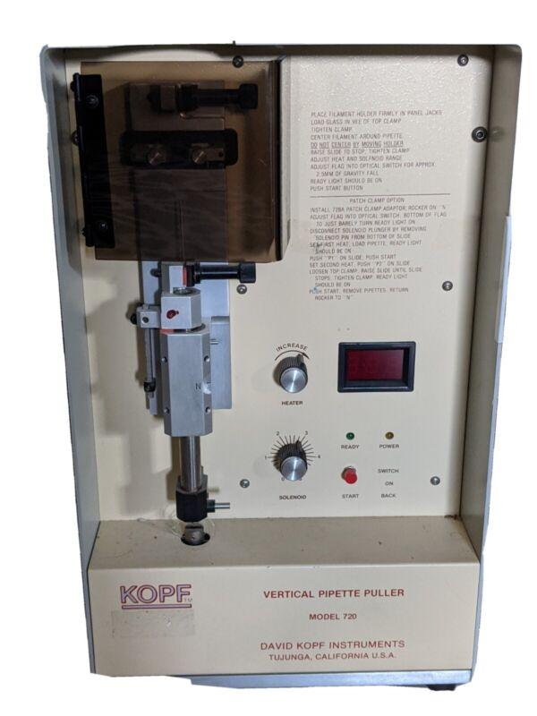 DAVID KOPF VERTICAL NEEDLE PIPETTE PULLER MODEL 720, For Parts /Repair