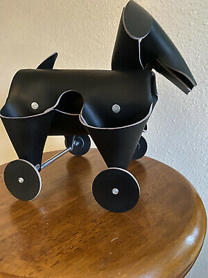 Amigos Dog Black Recycled Leather Desk Organizer Office Home Decor Vacavaliente