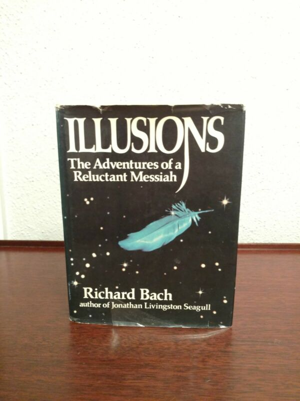 RARE *SIGNED* 1ST PRINTING Richard Bach ILLUSIONS Hardcover