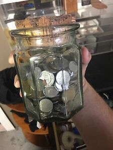 Jar of old coins from all around the world RARE