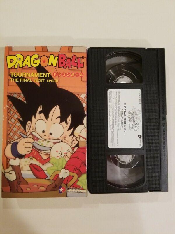Dragonball The Final Test Uncut VHS Tournament Saga DB Anime Toriyama Vintage