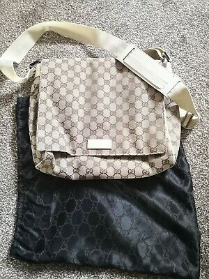 Ladies Gucci Messenger Bag Cream Strap