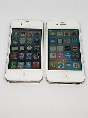 Two Apple iPhone 4s - 16GB - White (Verizon) A1387 (CDMA + GSM) *READ*